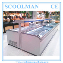 Commercial Double Island Showcase Refrigerator