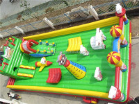 Happy sheep model inflatable obstacle for sale