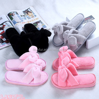 Multiple color Womens Soft Fur Slipper Furry Warm Flat Sandals