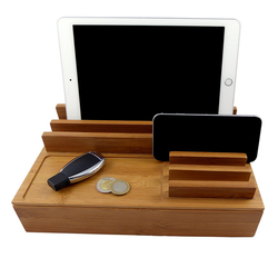 Universal Fast large Wooden Free Dock Charging Station Free Dock For Phone, Android Smartphone& Smart Watch, Tablet