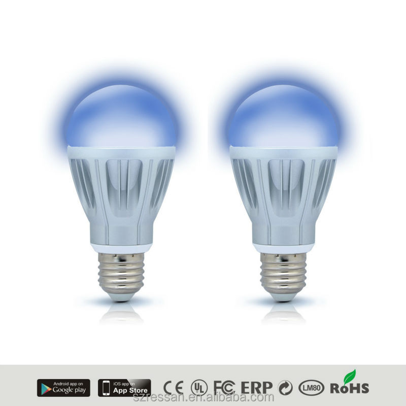 Super Legend E27 Edison Screw 7 Watt LED Super Smart App Controlled battery powered Bluetooth Light Bulb, Warm White