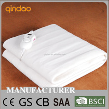 fitted safety polyester electric bed sheet with over heat protection
