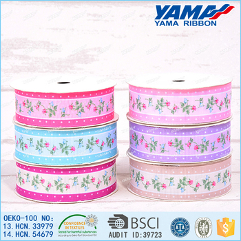3/8'' 9mm flower printed organza ribbon 200yards/lot ( stores also sell: 5/8'', 1'' , 1.5'' )