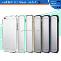 [GGIT] Hot Sale Back TPU Bumper Tempered Glass Case for iPhone 6