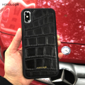 Best Selling for iphone X case Luxury black crocodile pattern mobile accessories for apple