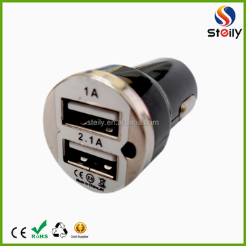 New 2USB ports 24v cellphone car charger