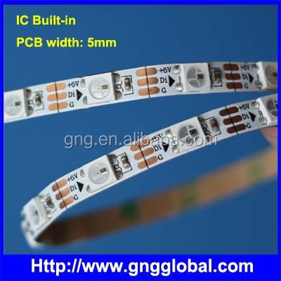 PCB width 5mm Addressable flex led strip WS2812B WS2812 144/100/60/30 led strip lights