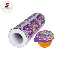 Food grade aluminum laminated opp plastic film rolls for jelly cup