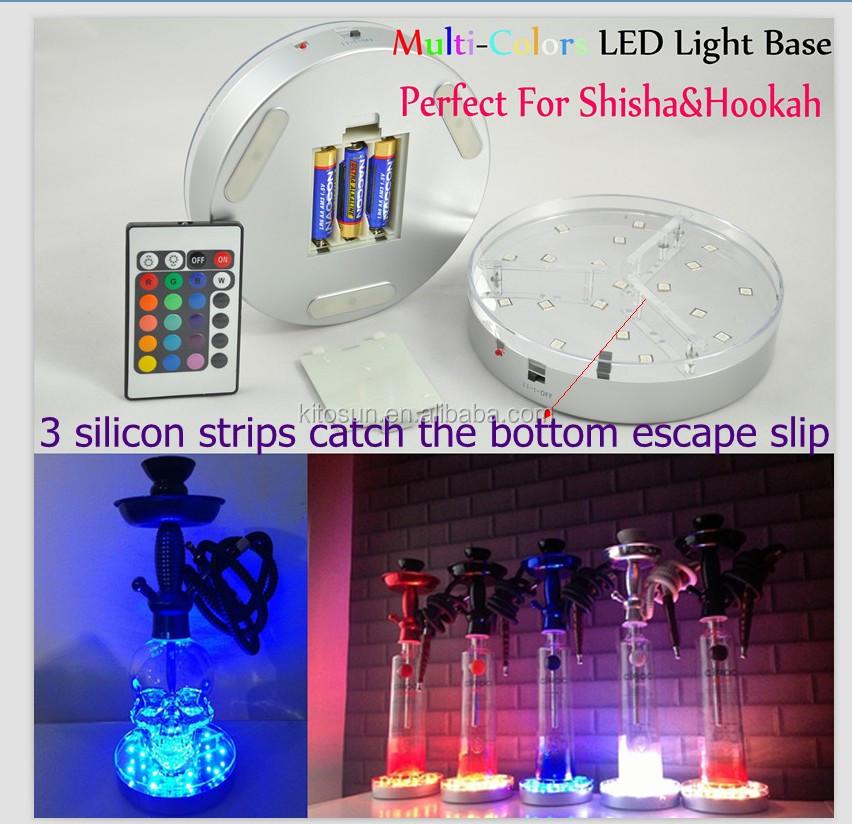 2016 online shopping 3aa battery operated glass led hookah light base buy light base glass led. Black Bedroom Furniture Sets. Home Design Ideas