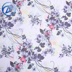 Floral cute design mesh lycra fabric polyester fabric export to japan
