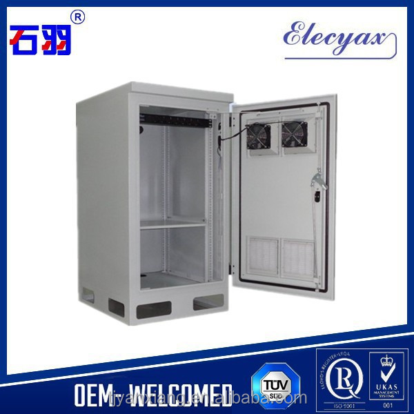 Stainless steel enclosures network cabinet solutions/outdoor metal cabinet/SK-235M 19'' equipment racks with fan