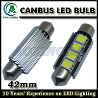 42mm 4SMD 5050 Xenon White Canbus Error Festoon Car LED Dome Light Number Plate Light Lamp Bulb