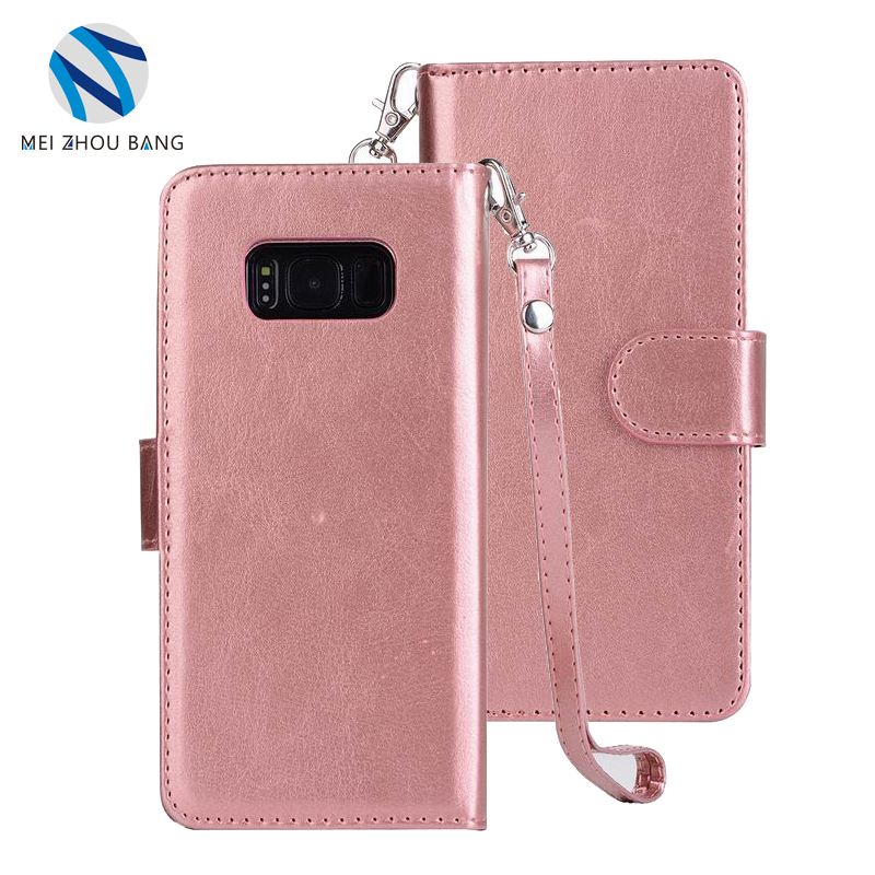 Wholesale Flip Wallet PU Leather Cell Phone Case Mobile Phone Cases for Samsung S8 Plus