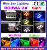 WASH LED club lighting rgbwa uv 6in1battery wireless led par can