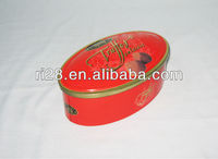 Oval candy metal box