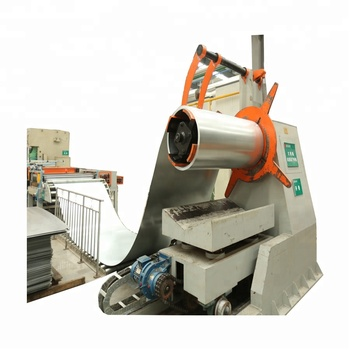 Automatic Cut to Length Line For Sheet Materials Steel barrel manufacturing equipment