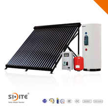 Spilt cooper coil solar sun power heater system qith pump expansion tank working station