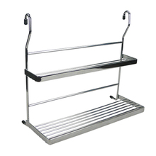 Steel chrome wire kitchen spice metal cabinet shelf support