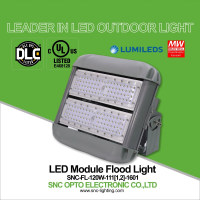 SNC high lumen IP65 120w UL DLC module led flood light with driver box for tunnel lighting