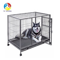 Heavy duty general cage slant front collapsible dog crate