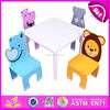 Table and four chairs set for kids,dining table and chair toy for children,cute design dining table and chair for baby W08G089