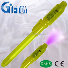 Fake currency detector pen with invisible ink