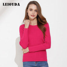 Rose red round collar long sleeves wool /acrylic pullover designs for girl sweater