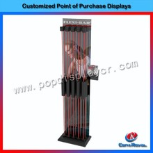 Hot selling pop sports equipment wooden display shelf