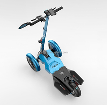 Tilting Three-wheeled Electric Scooter Dual-Front-Wheel Motorcycle Reverse Tricycle Electric Vehicle with 3 wheels