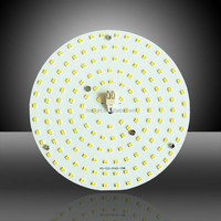 Newest ac 220v led pcb 2835 smd driverless no need extra LED driver /round aluminium led boards for ceiling light
