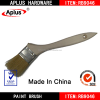 paint brush/wooden handle paint brush/curved paint brushes