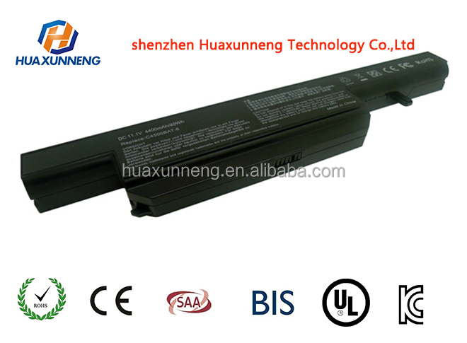 Laptop battery for Clevo replacement for C4500 Series C4500BAT-6
