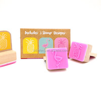 Promotion Toy Set Wood Rubber Stamp