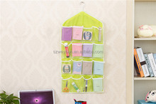 Creative Happy Gifts Housekeeping Storage Holders 16 Pockets Clear Hanging Bag Socks Bra Underwear Rack Hanger Storage Organizer