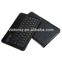 Keybook Case For Samsung Tab 3 8.0, Black Leather Keyboard Cover