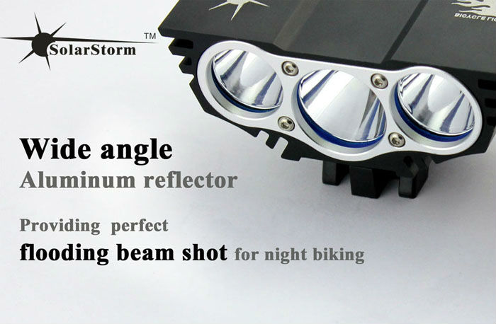 Solarstorm X3 outdoor cree u2 led rechargeable bike light