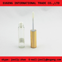 plastic cosmetic mini tube for lip gloss packaging