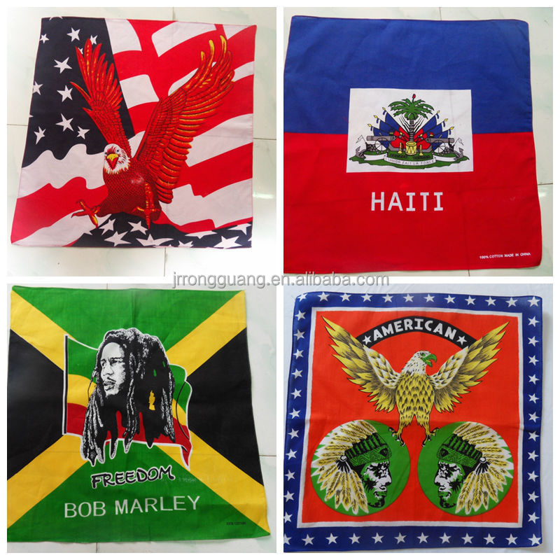 good quality cotton football sport bandana country flag bandana