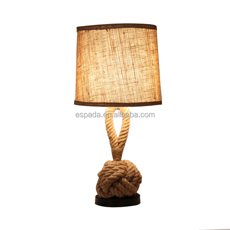 modern fabric hotel table lamp