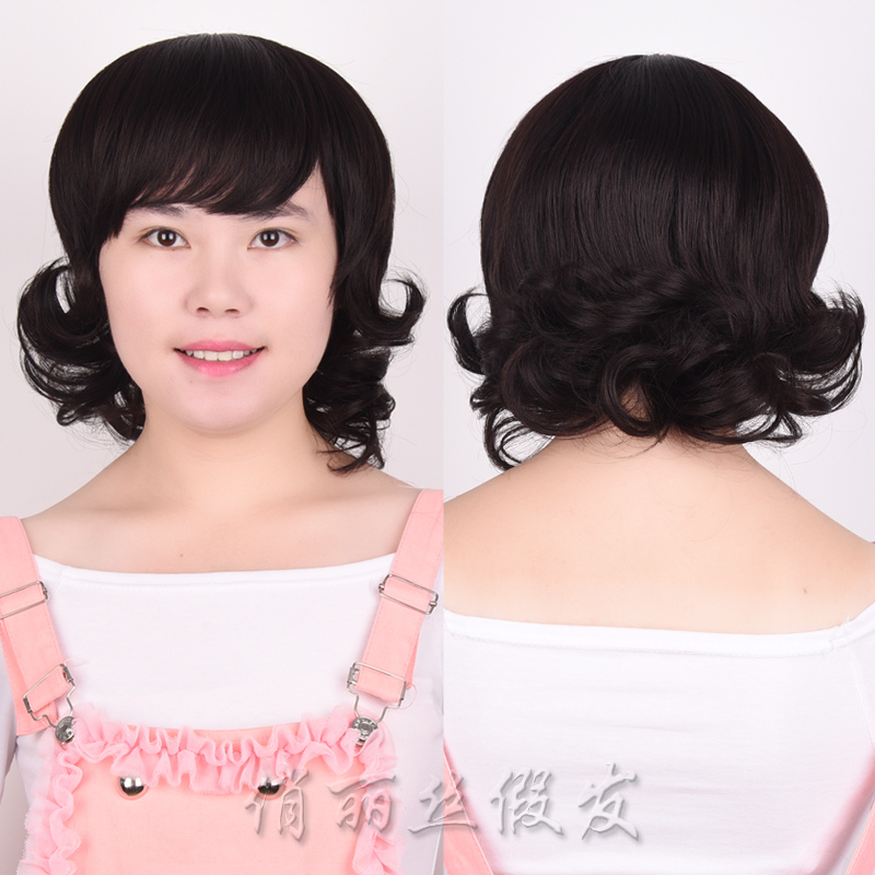 New Fashion Silk Top Human Hair Short Curly Bob Lace Front Wig