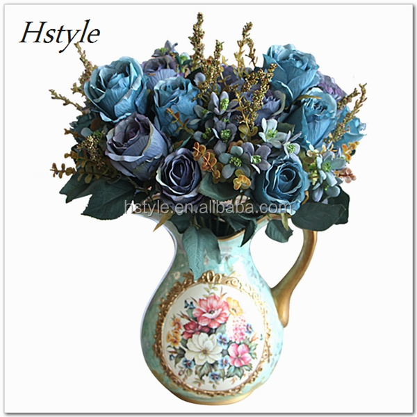 Beautiful Charming Delightful Palace Earl Rose Multi Color Artificial Flowers Wedding Home Decoration Flores Artificiales FZH051