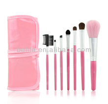 Free shipping Makeup Tools 7pcs Make brush classical Practice Makeup Brushes Pink Golden Makeup Brush
