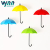 3PCS Creative Plastic Self Adhesive Magical Wall Suction Umbrella Hooks Holders for Home Kitchen