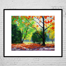 Custom printed modern decor landscape canvas oil painting