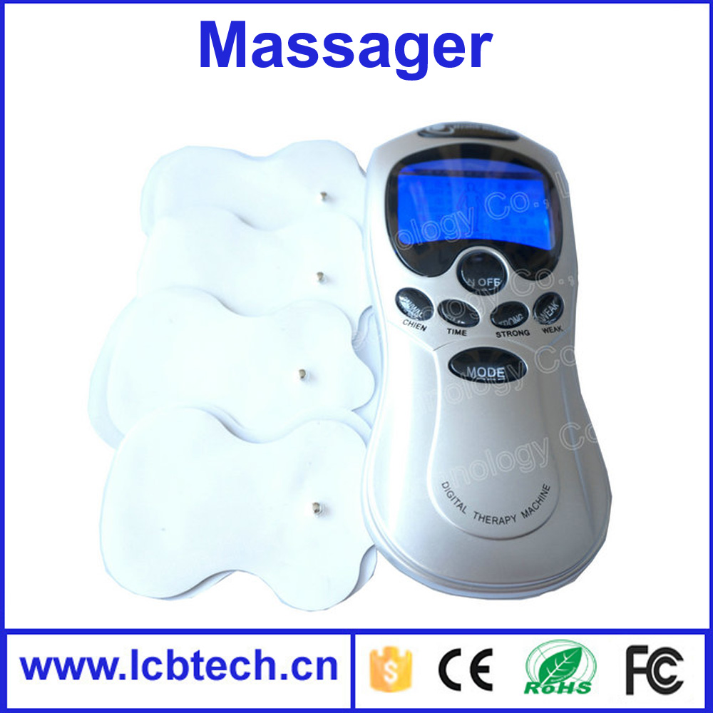 Tens/Acupuncture/Digital Therapy Machine slimming body Massager electronic pulse massager health care equipment with 4 pads