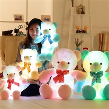 2018 Hot Customized Lighting Teddy Bear Plush Toy Different Color Wholesale Warm Color Large Led Teddy Bear Plush Toy