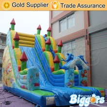 Best Seller Inflatable Slide with Dolphin for Outdoor Playground