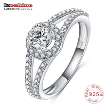 New Arrival 2016 Women Pure 925 Real Sterling Silver Jewelry Ring Gift for Girlfriend Anillo de Plata SRI0008-B