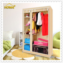 Sliding door assemble fabric wardrobe closet