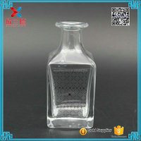 rectangle decorative glass bottle reed diffuser for home fragrance 5oz